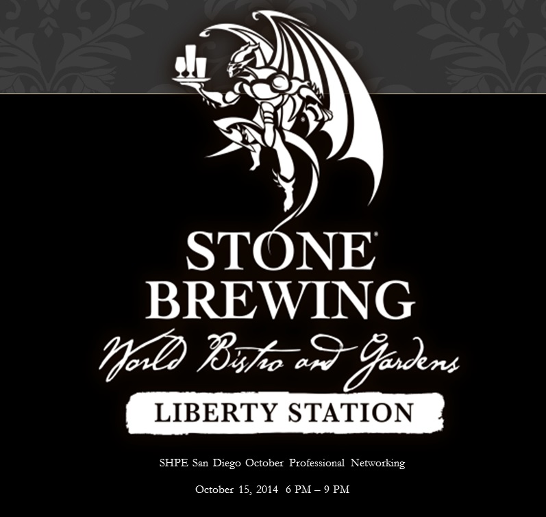 SHPE October Networking Stone Brewing